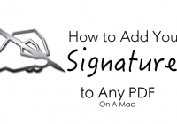 How to Sign a PDF on Mac using Preview